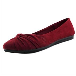 Pointed Burgundy Flats